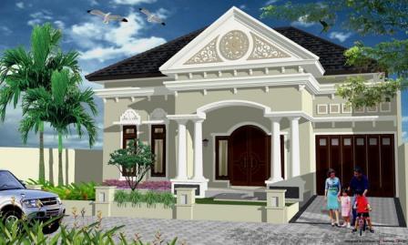 ada contoh rumah dengan ukuran sedang ada juga contoh rumah besar luas
